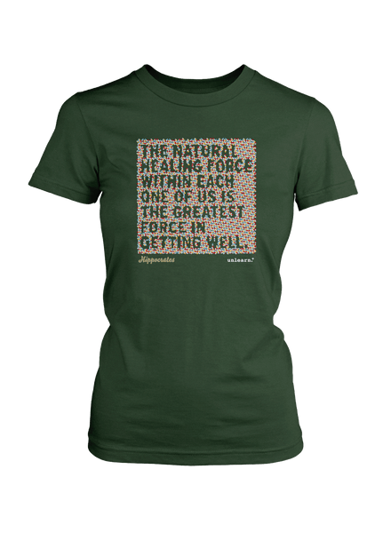 Natural Healing - Women's Olive Green T-Shirt
