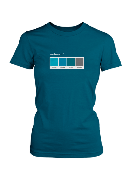 Ocean - Women's Blue T-Shirt