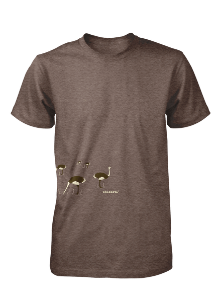 Ostrich - Unisex Coffee Brown T-Shirt