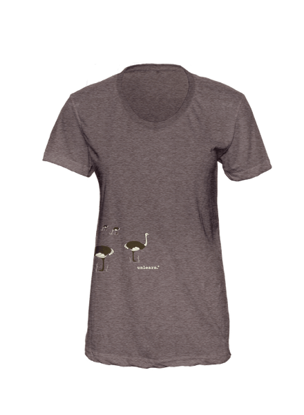 Ostrich - Women's Coffee Brown T-Shirt