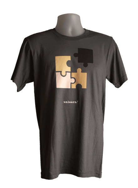 Puzzled - Unisex Slate Grey T-Shirt