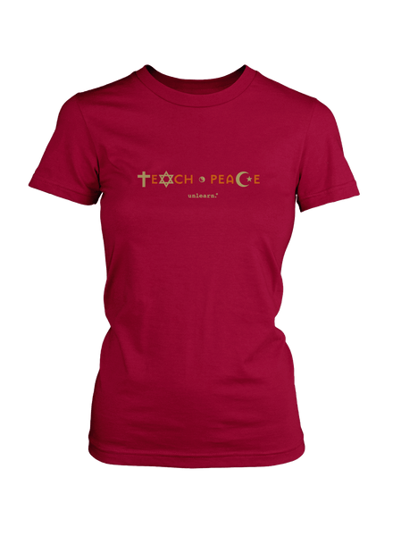 Teach Peace - Women's Cranberry T-Shirt