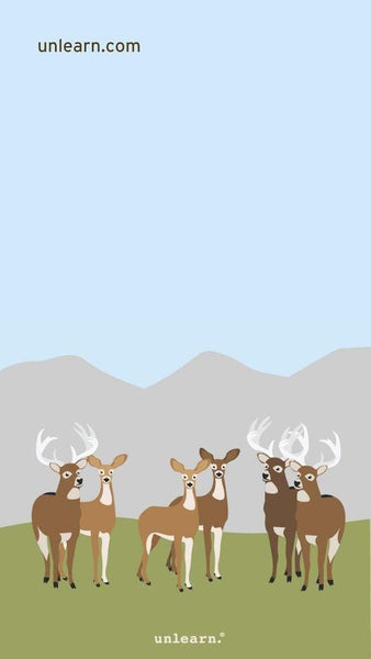 Thought Deer Mobile Background