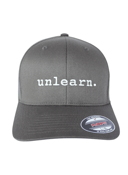 unlearn. - Dark Grey Flexfit Hat
