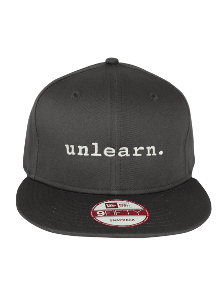 unlearn. Grey New Era Snapback Hat
