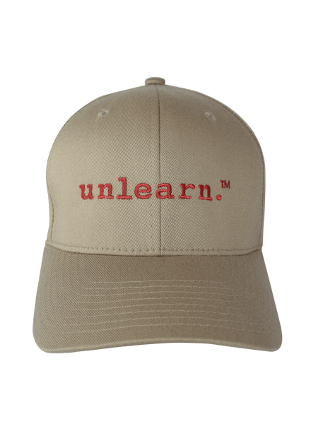 unlearn. - Khaki Flexfit Hat