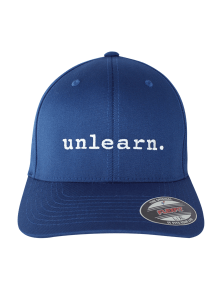 unlearn. - Royal Blue Flexfit Hat