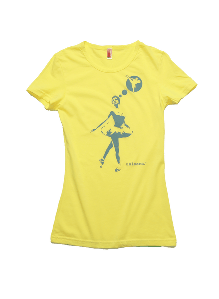 Ballerina - Women's Scoop Neck Yellow T-shirt