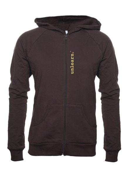 War Dove - Women's Brown Fleece Zipper Hoody