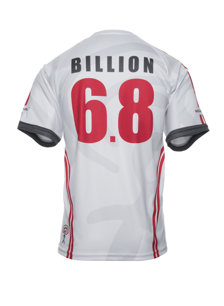 World United 6.8 Billion - Unisex White V-neck Jersey