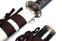 Korean L6 steel jingum (antiqued Vine II fittings, spare scabbard) - high quality sword from Martialartswords.com