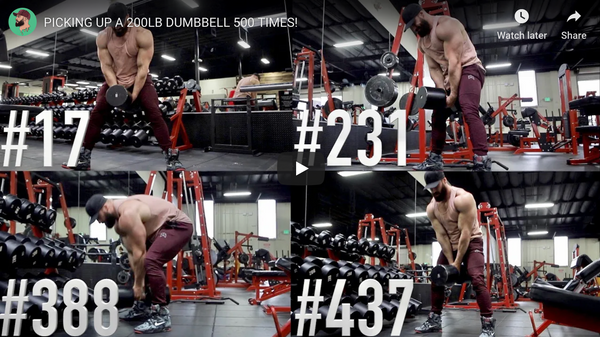 Think You Have What It Takes To Lift A 200 LB Dumbbell For 500 Reps?...