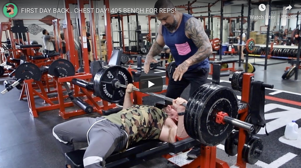405 Bench For Reps!!