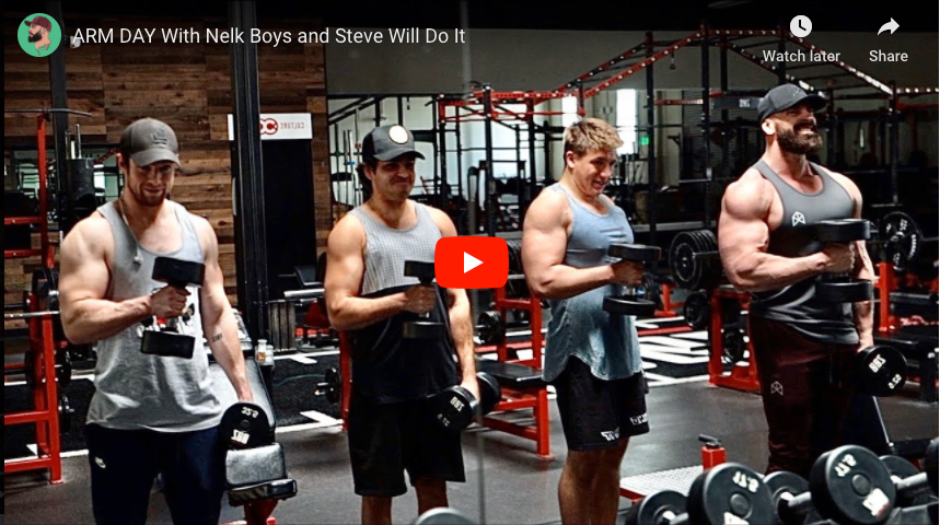 Arm Day With Nelk Boys And Steve Will Do It Bradley Martyn Youtube Rawgear And also you will find here a lot of movies, music, series in hd quality. arm day with nelk boys and steve will