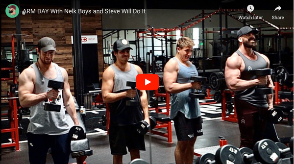 ARM DAY WITH NELK BOYS AND STEVE WILL DO IT | Bradley Martyn YouTube