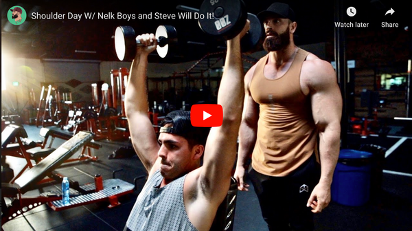 Shoulder Day W/ Nelk Boys and Steve Will Do It! | Bradley Martyn YouTube