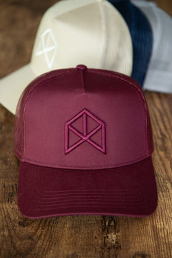 RAWGEAR Original Trucker Hat- Burgundy