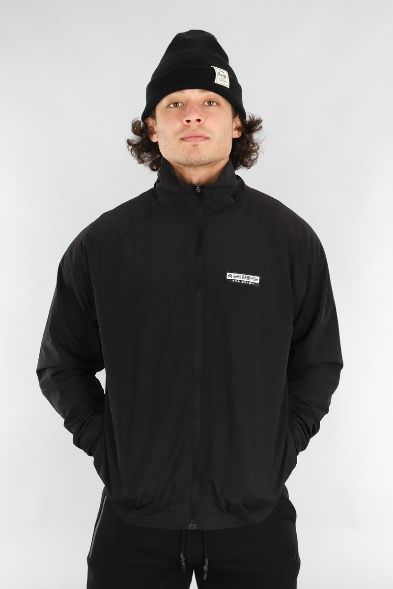 RAWGEAR Full Back Logo Windbreaker- BM519 - Black