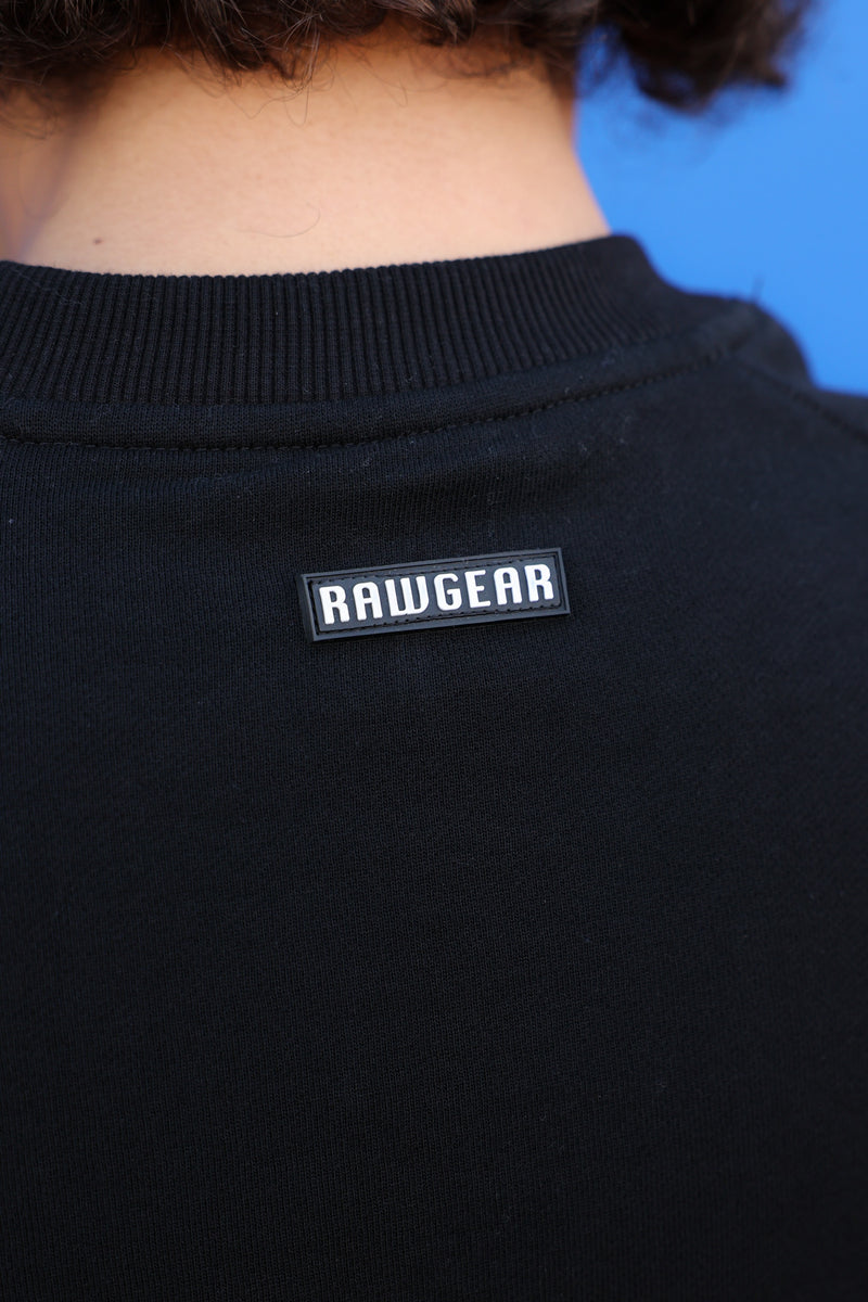 RAWGEAR Essential Rubber Logo Sweatshirt - BM536 - Black