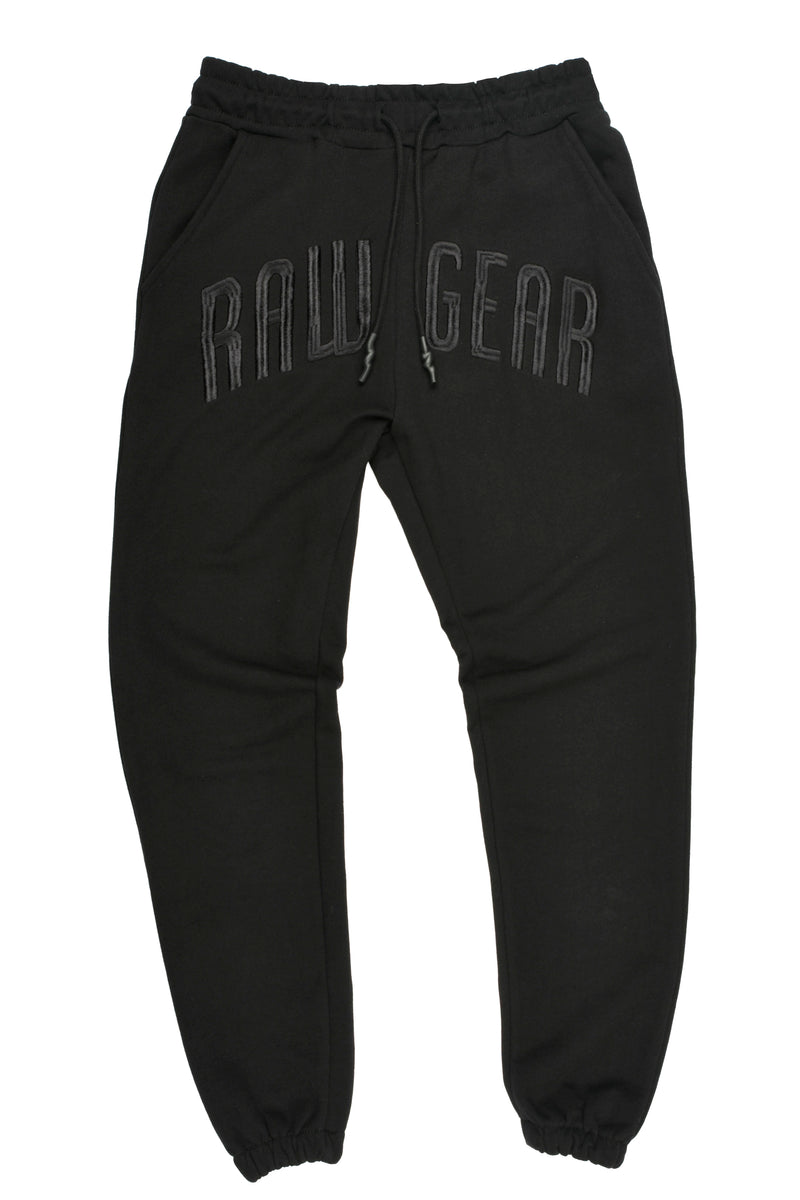 Rawgear Front Embroidery Jogger - BM218 - Black