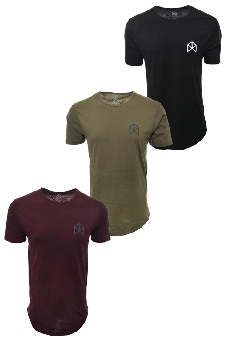 BMFIT Basic Tees Bundle- Black, Burgundy, & Olive