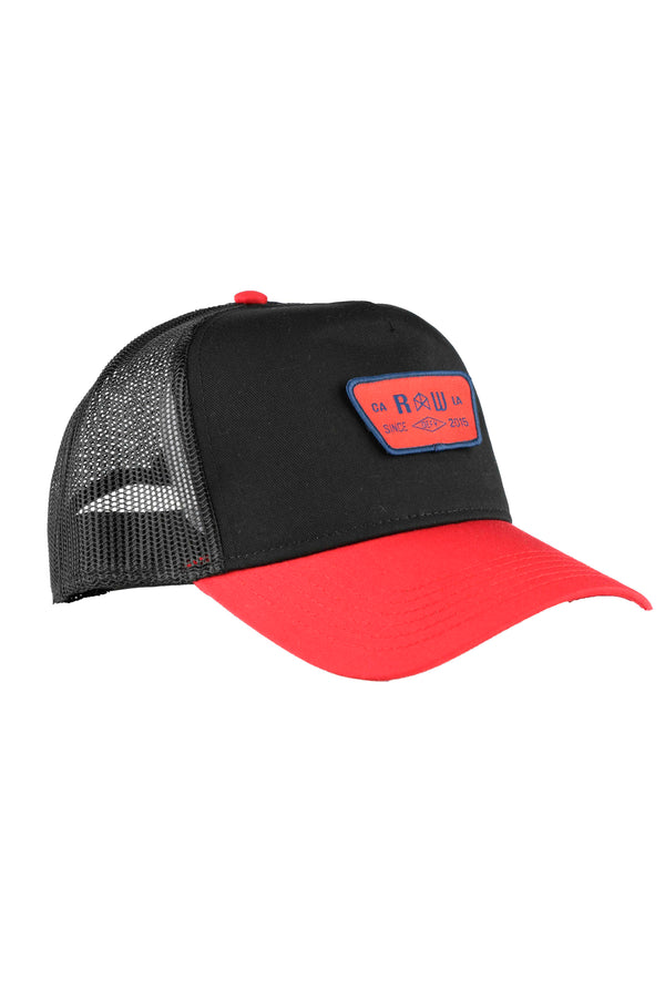 RAWGEAR LA Defy Trucker Hat- BM607 - Black/Red