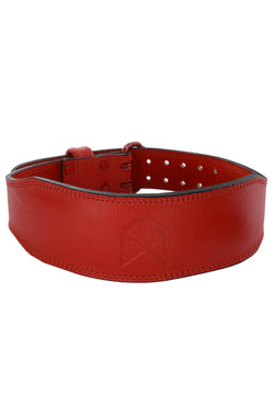 BMFIT Premium All Red Series - Leather Weightlifting Belt