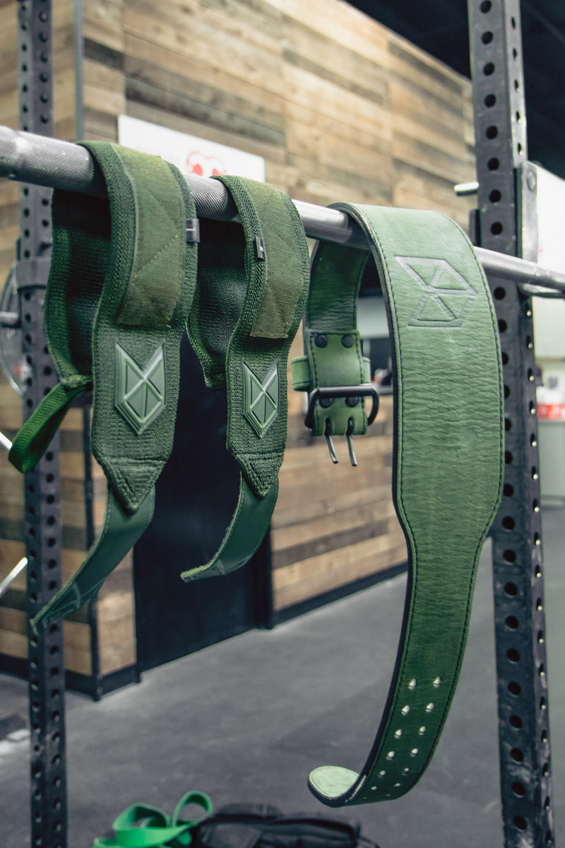 RAWGEAR Premium Olive Series - Leather Weightlifting Belt - BM903