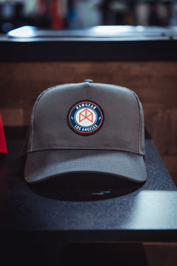 RAWGEAR Los Angeles Trucker Hat- Charcoal