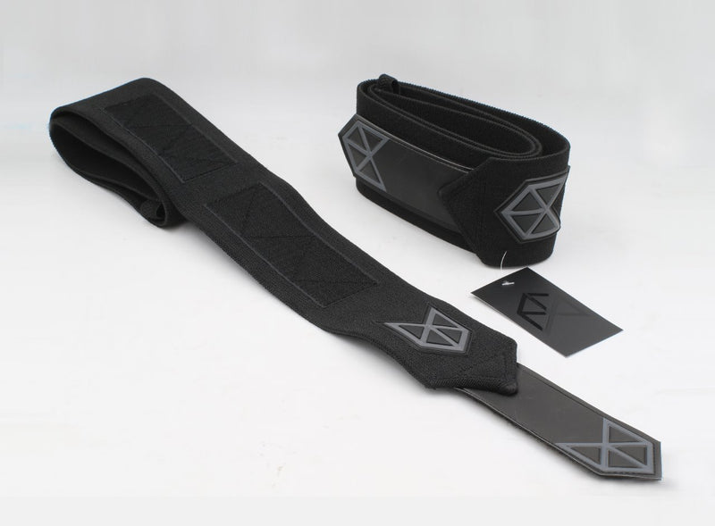 BMFIT Premium All Black Series - Heavy Duty Elbow Wraps 36""