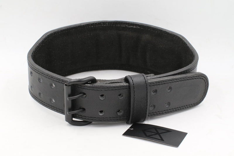 BMFIT Premium All Black Series - Leather Weightlifting Belt