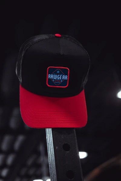 RAWGEAR Trucker Hat- Red/Black