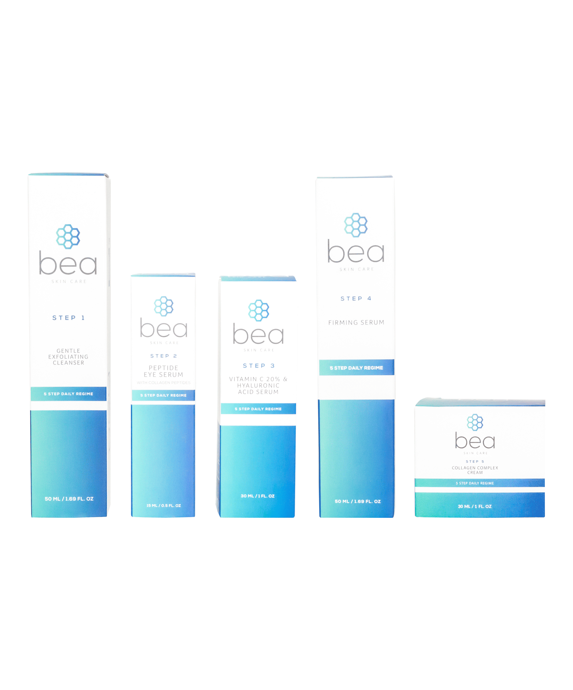 5 Step Daily Regime: Full Set Sets bea Skin Care