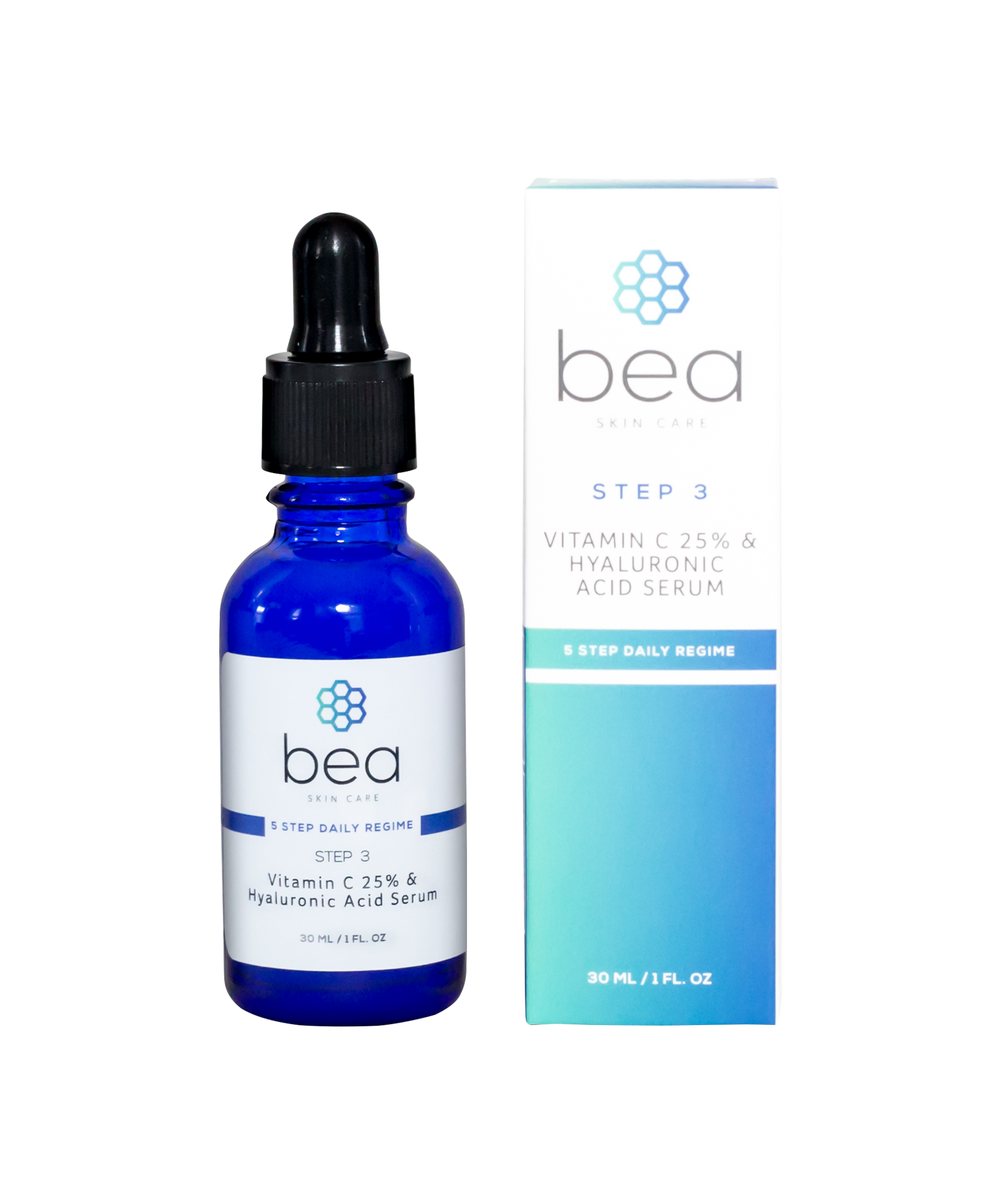 STEP 3: Vitamin C 25% & Hyaluronic Acid Serum – 30 ML Face Serum bea Skin Care