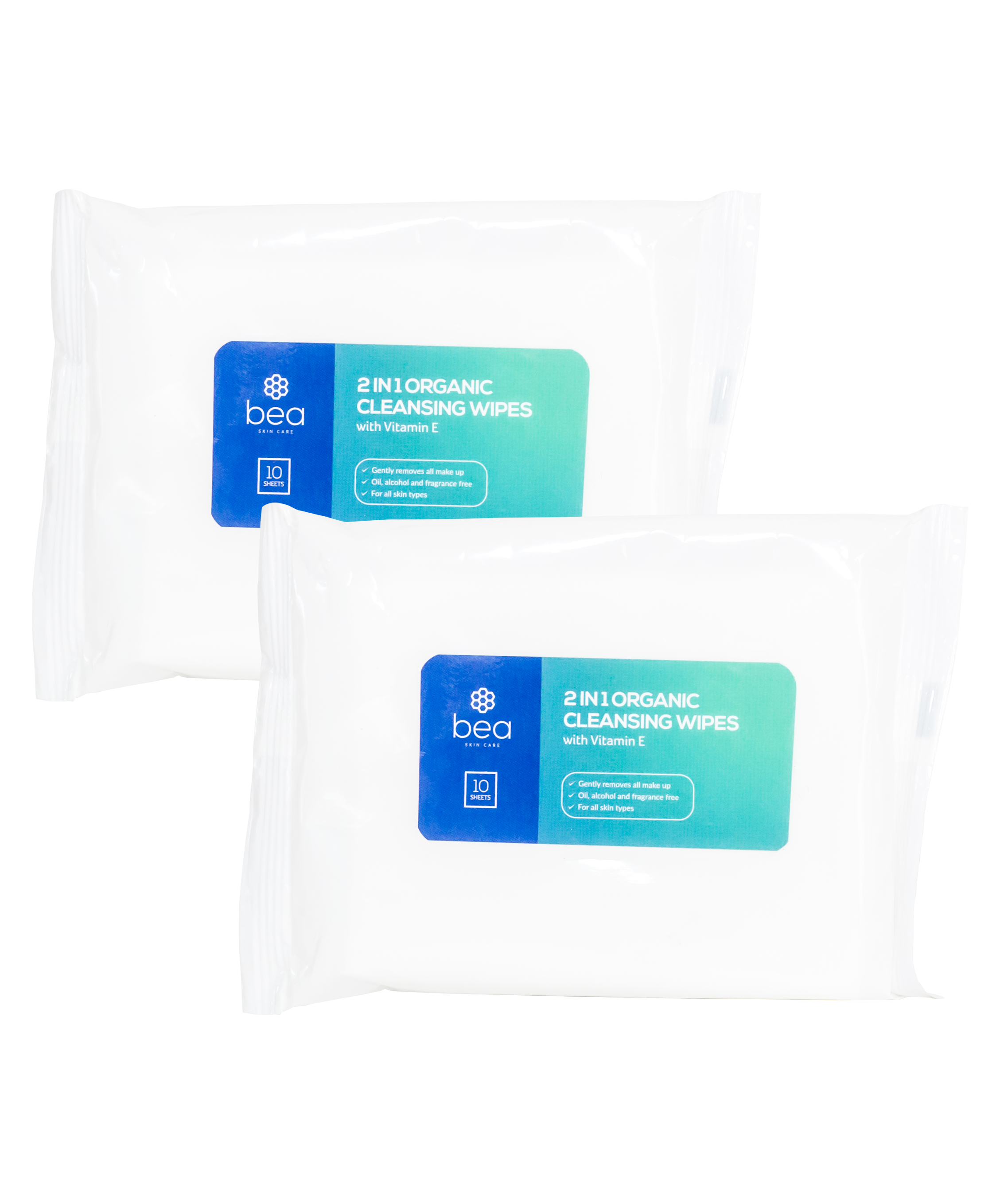 2 in 1 Organic Cleansing Wipes Wipes bea Skin Care