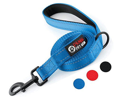 Dog Leash - Extra Heavy Duty - Thick 3mm Nylon - 6ft Long - Blue