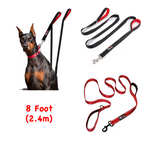 Double Handle Dog Leash - 8FT - Walk, Train and Protect your Pet in Traffic