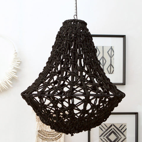 Rope Chandelier - Black