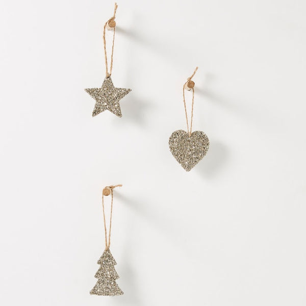 Champagne Xmas Tree Decorations