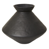 Aurora Textured Vase - Black