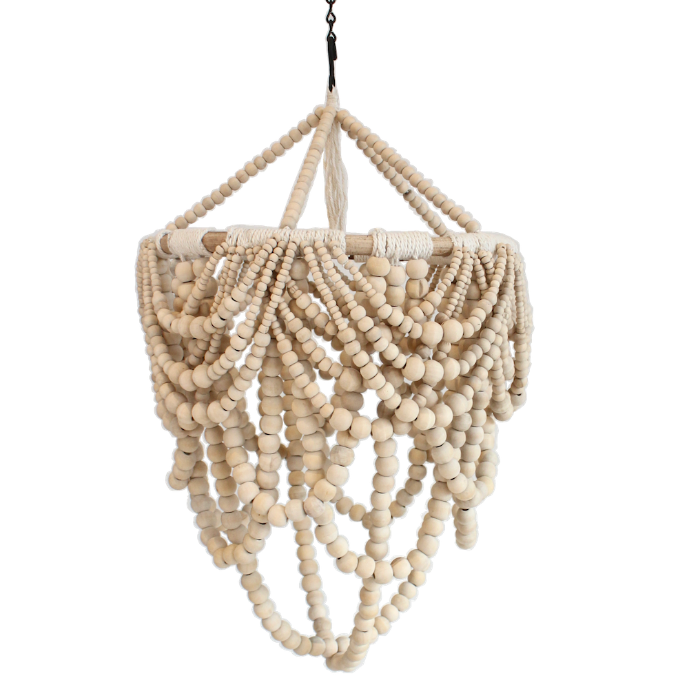 Beaded Drape Chandelier - Natural - Mini