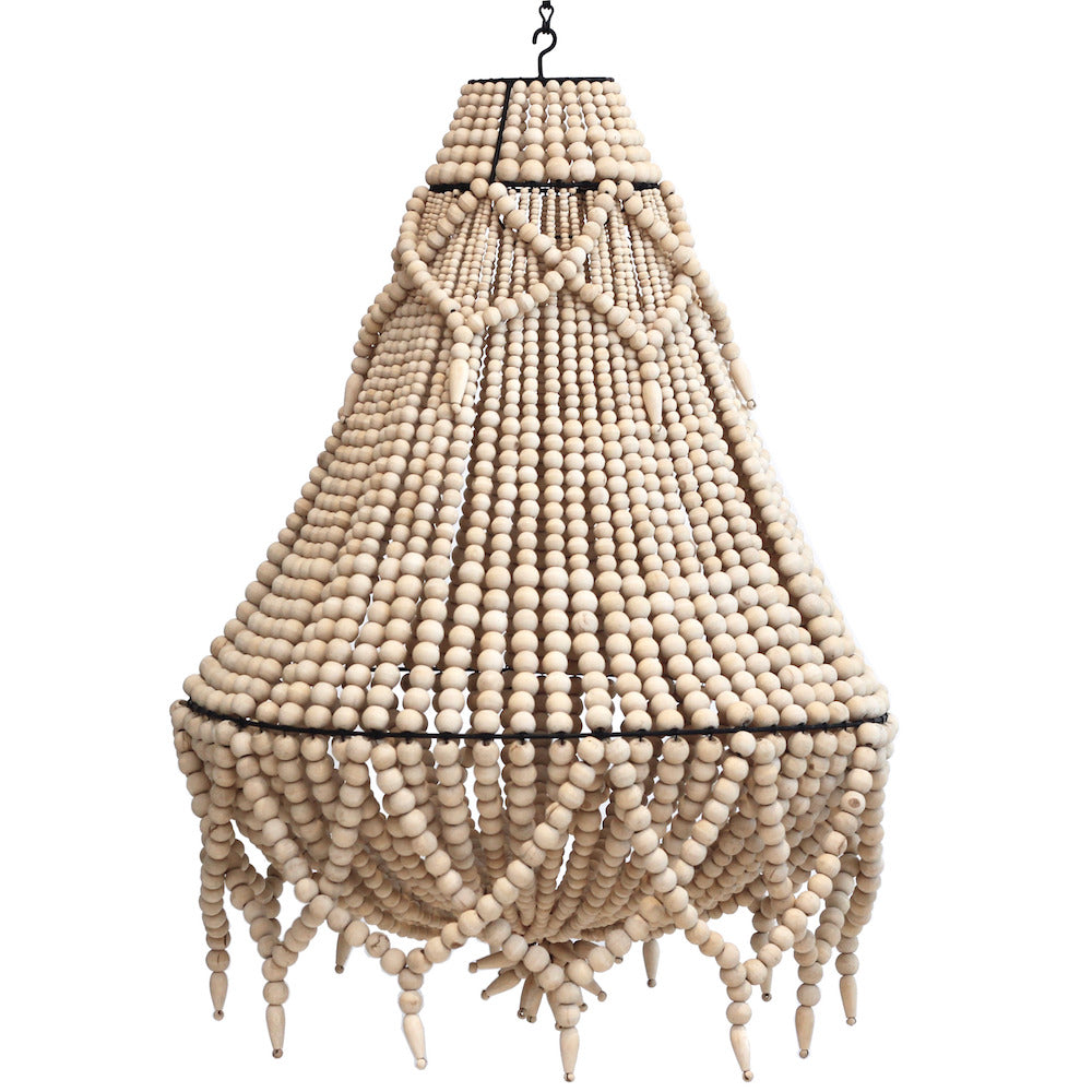 Beaded Chandelier - Large - Natural