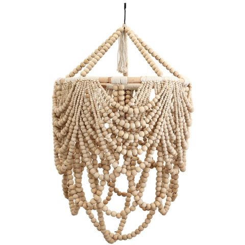 Beaded Drape Chandelier - Natural