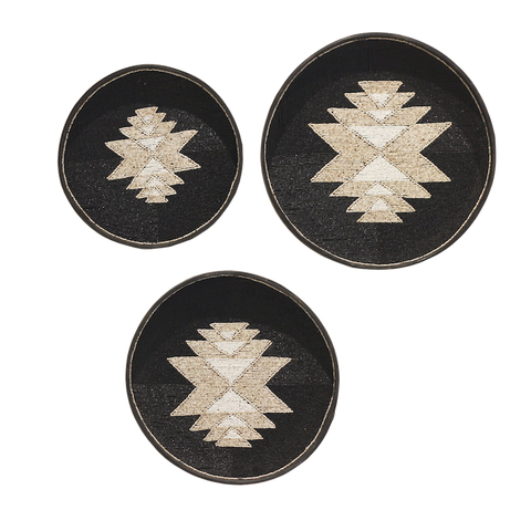 Beaded Trays - Black/Natural