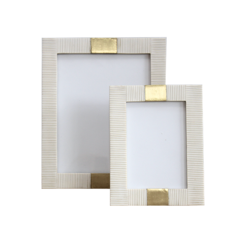 Bone & Brass Photo Frames
