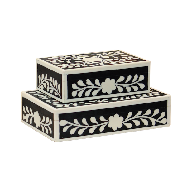 Bone Inlay Floral Boxes