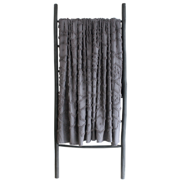 Delani Tufted Throw - Dark Grey