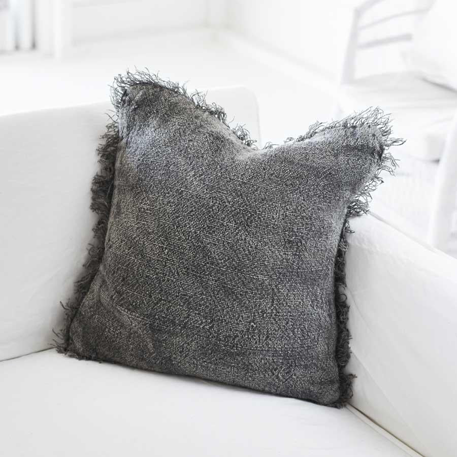 Bedouin Cushion - Stone Wash Slate