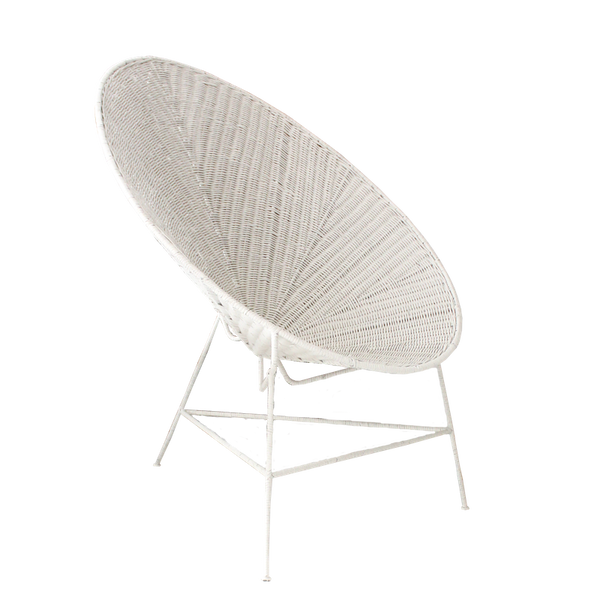 Rattan Egg Chair - White