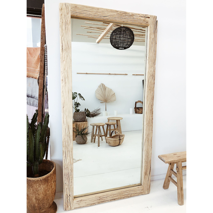 Recycled Elm Wood Mirror